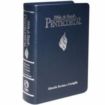 Biblia Pentecostal De Estudo Grande Luxo Azul