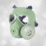 Máscara De Proteção Para Airsoft Toxic Gas Verde Com Cool