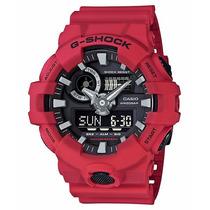 Relógio Casio G-shock Ga-700-4a Vermelho Lançamento