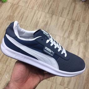 Tenis Zapatillas Puma California Baja Azul Hombre Envio Grat