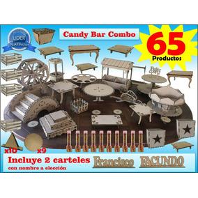 Candy Bar Combo 63 Productos + 2 Carteles Nombres A Elección