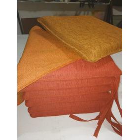 ¡¡ Almohadones Para Silla--5cm. Espesor---tela Y Ecocuero