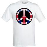 Remera Bandera Del Reino Unido Estilo Hippie Paz Firmar Hom