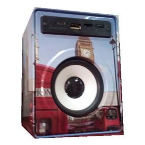 Bonita Bocina Radio Reproductor Usb Micro Sd Tf Aux Luz Led