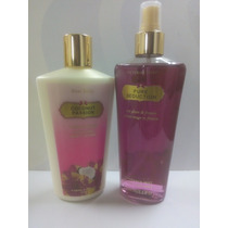Combo De Body Splash Victoria Secret + 1 Cremas De 250 Ml