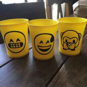 Vasos Plásticos Emojis Souvenir X10u