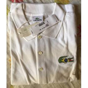 Camisa Polo Lacoste Jacaré Brasil