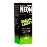 Kit 2 Coloração Keraton Neon Colors Kriptonit Green 100g