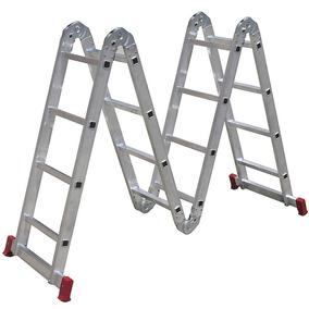 Escada Articulada 4x4 Com 16 Degraus De Alumínio-botafogo-es