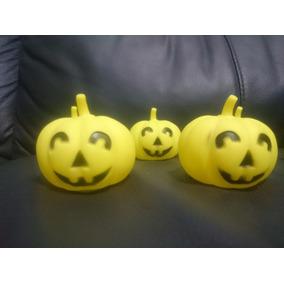 50 Calabaza Halloween Luz Luminosa Colores Adorno Decora