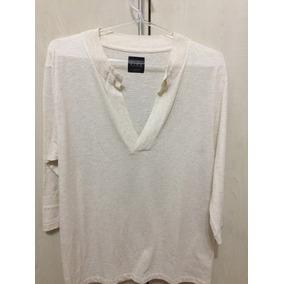 Camisa Gola V Masculina Bege Zara Collection Tamanho L