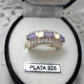 Anillo Plata Con Oro Piedras Cubics Y Circones.muy Original