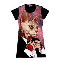Galaxy Cat Gato Swag Roupas Femininas Vestidos Femininos