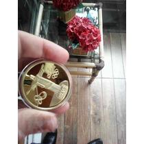 Réplica Da Moeda Ouro Comemorativa Da Olimpíada Tocha Cristo