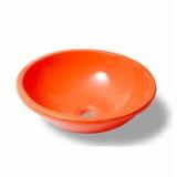 Bacha Cree Nro 18 Diam 39cm Naranja Redonda De Apoyar