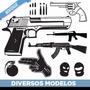 Adesivo Decorativo De Parede - Armas De Fogo, Ak47 Pistola