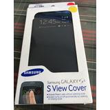 Case Samsung S View Cover Galaxy S4 Original Lacrado Preto