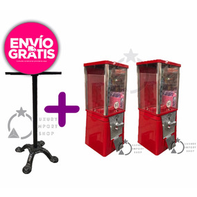 2 Maquina Chiclera Eagle Dispensadora Dulce Granel Con Base