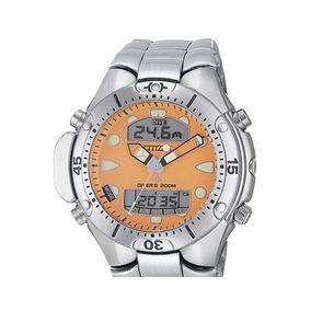 Relógio Citizen Aqualand Jp1060 Fundo Laranja Bj2040