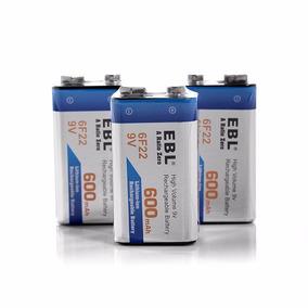 Pila Bateria Recargable 9v Ebl 6f22 Super Duracion 600mah
