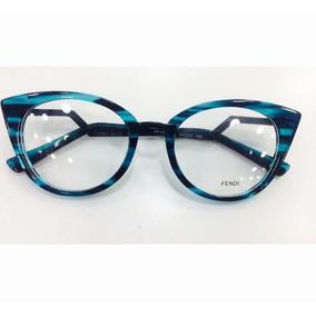 Oculos Armação De Grau Fendi Feminino Em Acetato -fe100 · R  135 c2d47d4238