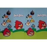 20 Adesivos Personalizado Para Tubetes Tema Angry Birds