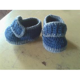 Mocasin Bebe A Crochet. Producto Artesanal!!