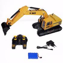 Escavadeira Trator Hyundai Controle Remoto Metal 10 Funções