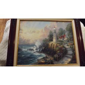 Hermoso Cuadro Pintura Oleo Thomas Kinkade Con Certificado