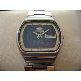 Reloj Orient Automatic Crystal. Vintage... Bonito Dial Azul.