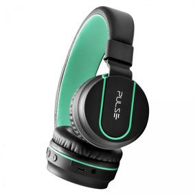 Headphone Bluetooth Pulse Preto E Verde Ph215