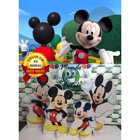 Kit Displays Mickey 8 Peças + Painel 2 X 1.50 ,totens. 48h