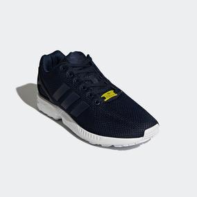 Tenis adidas Zx Flux Runner Azul Marin Gym Correr Originales