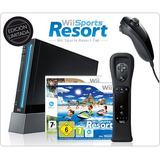 Wii Negro Con Todos Sus Accesorios