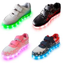 Zapatillas Luces Led 7 Colores Niños Hombre Mujer Alclick