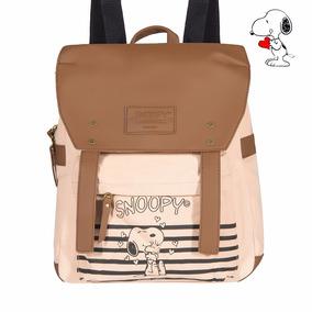 Kit Bolsa Estilo Mochila Sp1701 + Carteira Sp1721 Snoopy