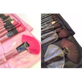 24 Brochas Premium De Maquillaje 100% Pelo De Cabra