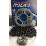 Par De Kit Engranes Y Cadena Rc150/ft150 Italika Original