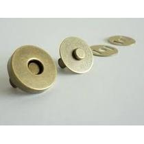 Botão Imantado Cor Ouro Velho 14mm C/20 Fechos P/bolsa (imã)