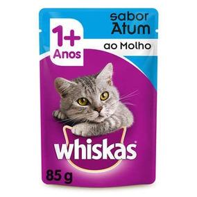 Ração Whiskas Sachê Atum Para Gatos Adultos 54 Unidades