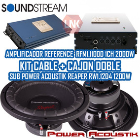 Combo Soundstream Amplificador + 2 Sub Power Acoustik 1200w