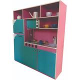 Kit Cozinha Infantil Completa Fogão Balcão E Geladeira Linda