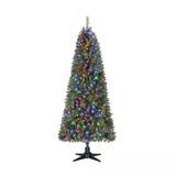 Árbol Navidad Artificial Giratorio Luces Led 2.2m Envío Msi