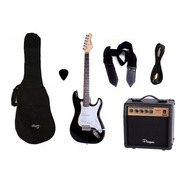 Combo Guitarra Electrica Parquer Negra Amplif 10w Cuota