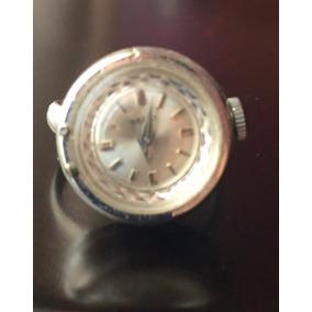 Reloj Análogo De Cuerda En Anillo Ajustable Color Plata