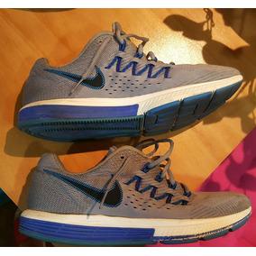 Zapatillas Nike Vomero N°10 Originales Azules Y Grises