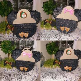 Mini Piñatas O Caja De Cotillon De Mickey Al Estilo Safari