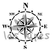 Las Lupes - Stencil Vientos - 30 X 30cm