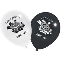 Kit Decoração Festa Corinthians - Vela + 25 Balões