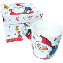 Taza Navideña Santa Claus Box Porcelana 500ml